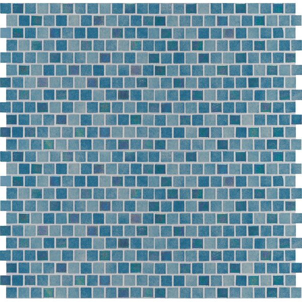 Caribbean Reef 1 x 1 Glass Mosaic Tile in Green by MSI