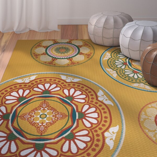 Soluri Gold Indoor/Outdoor Area Rug by Bungalow Rose