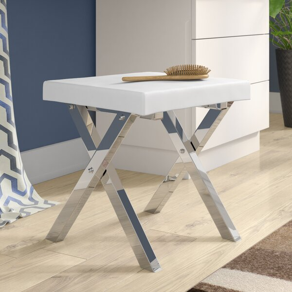 Kayden Folding Vanity Stool by Orren Ellis