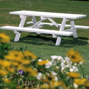 Picnic Table with Bench by Seaside Casual