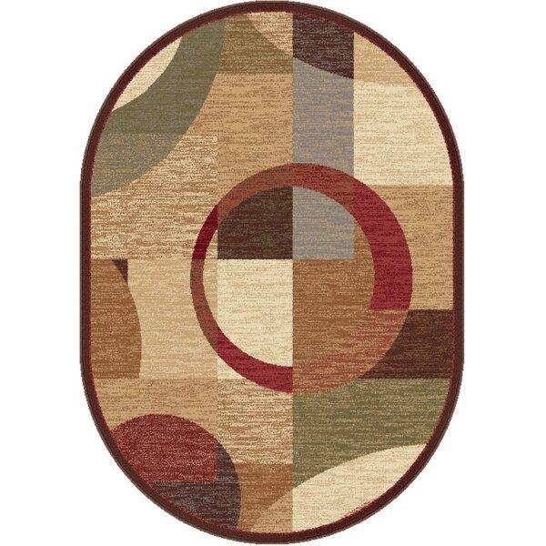 Colette Geometric Tan Area Rug by Latitude Run