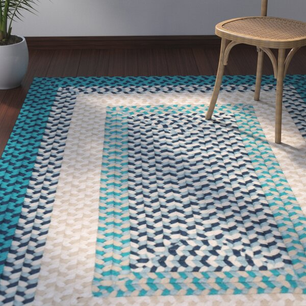 Marathovounos Hand-Woven Wool Blue Area Rug by Bay Isle Home