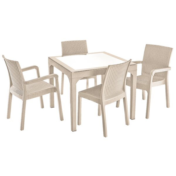Needham Weather Resistant  5 Piece Complete Patio Set by Ivy Bronx