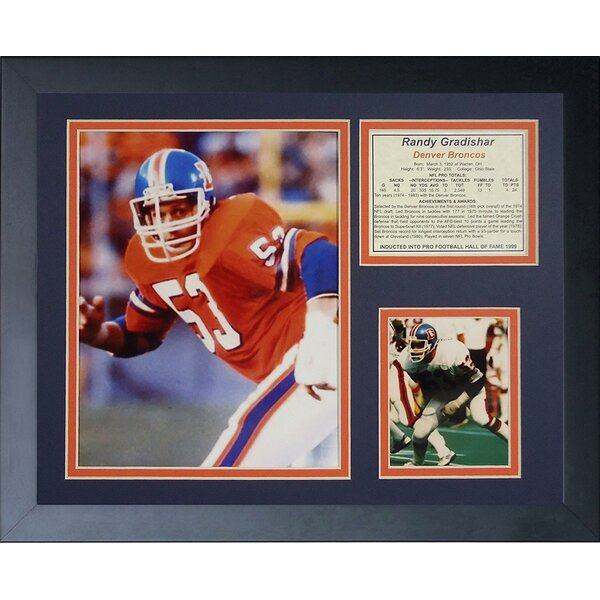 Randy Gradishar Framed Memorabilia by Legends Never Die