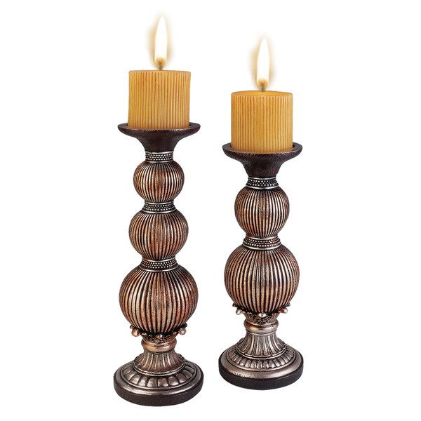 Jaquan 2 Piece Candlestick Set by World Menagerie