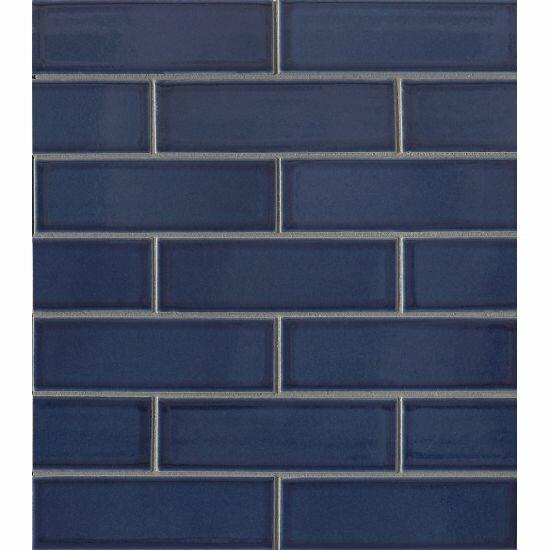 Reverie 2 x 6 Porcelain Subway Tile in Blue by Grayson Martin