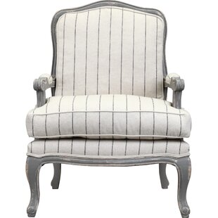 Armchair In Distressed Gray