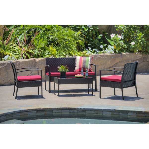 Roxana 4 Piece Set With Cushions By Andover Mills