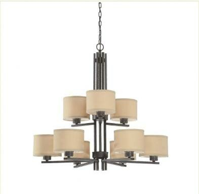 Hirst 9-Light Shaded Chandelier by Wrought Studio