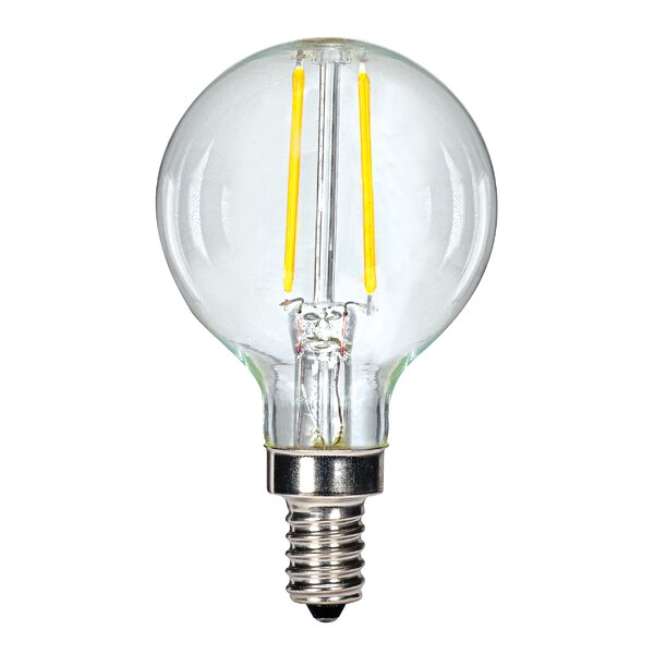 3W E12 Candelabra LED Vintage Filament Light Bulb by Satco