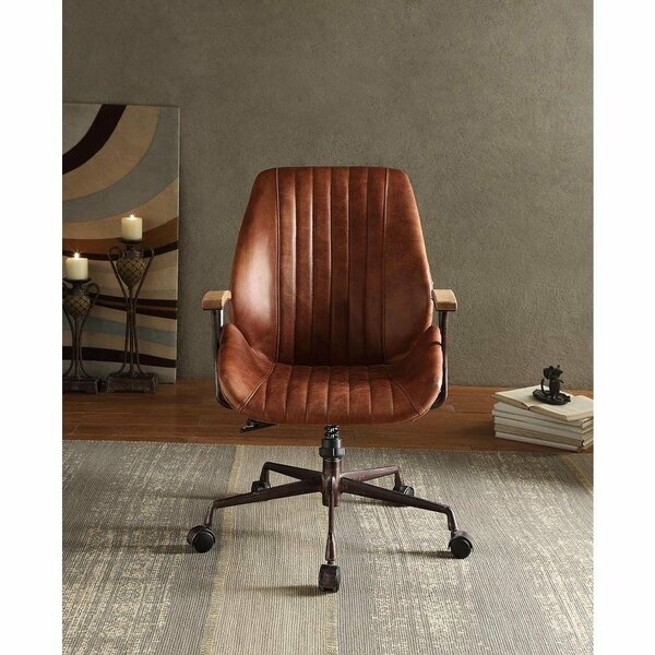 Lebo Swivel Executive Genuine Leather Office Chair by 17 Stories
