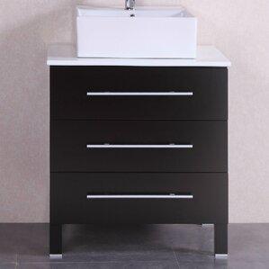 28u201d single modern bathroom vanity set - Wayfair Bathroom Vanity