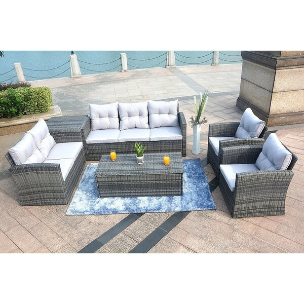 Direct Outdoor 6 Piece Sofa Seating Group with Cushions by Latitude Run