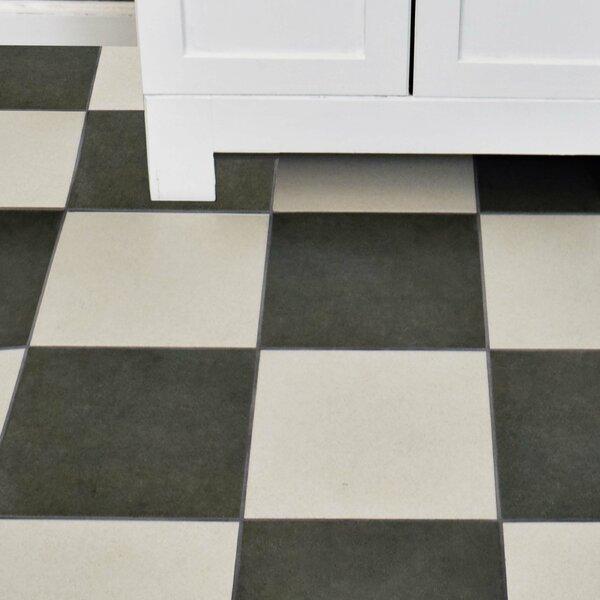 Annata 9.5 x 9.5 Porcelain Field Tile in Blanco by EliteTile