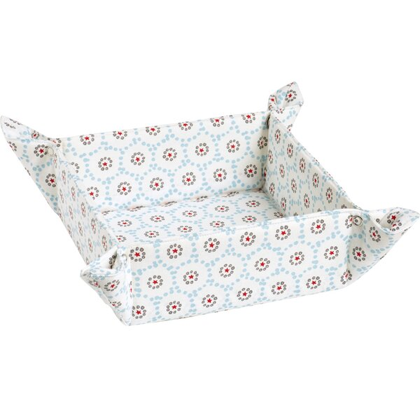 Square Bread Basket Winter Dotty by The Holiday Ai