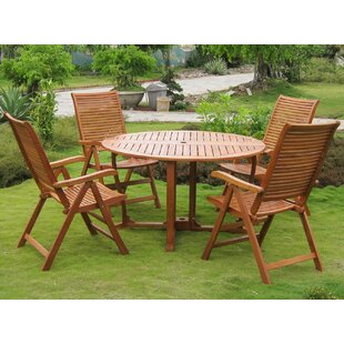 Sabbattus Catalina 5 Piece Dining Set By Breakwater Bay
