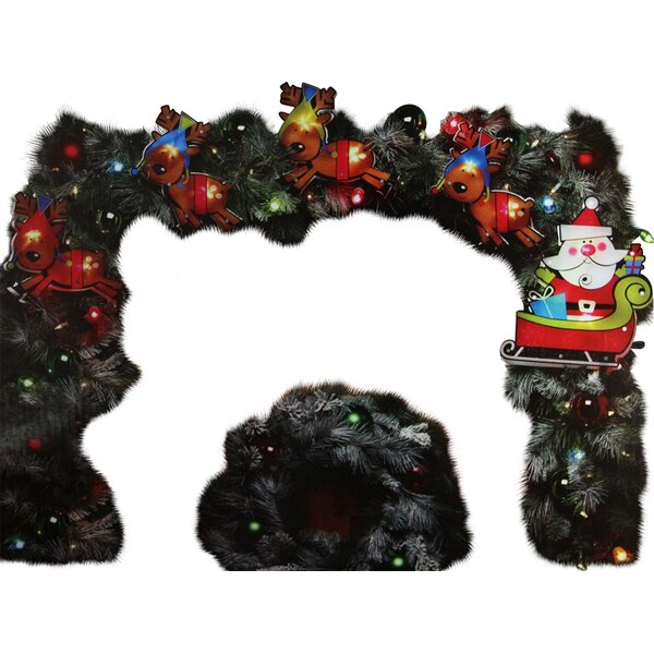 Shimmering Santa Claus and Reindeer Christmas Light Garland by Northlight Seasonal
