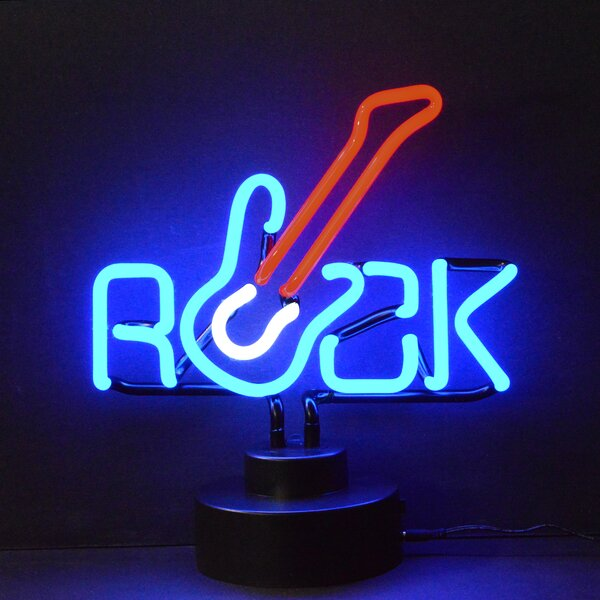 Business Signs Rock Guitar Neon Sign by Neonetics