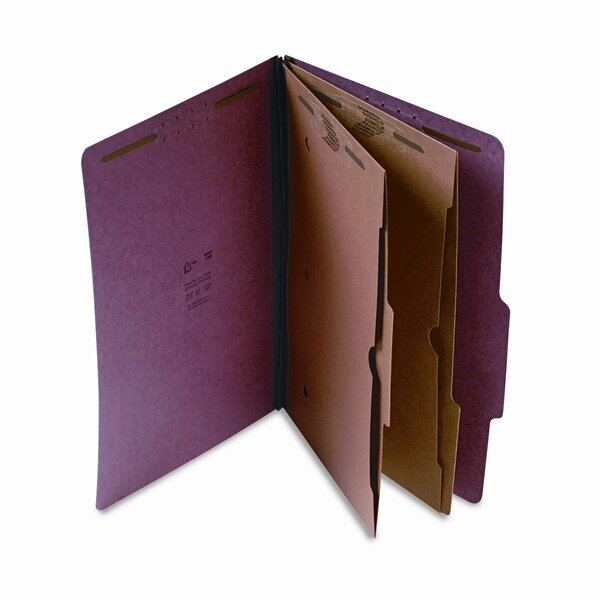 Expanding Pressboard Folder w/Pockets, Legal, 6-Section, Red by S&J PAPER