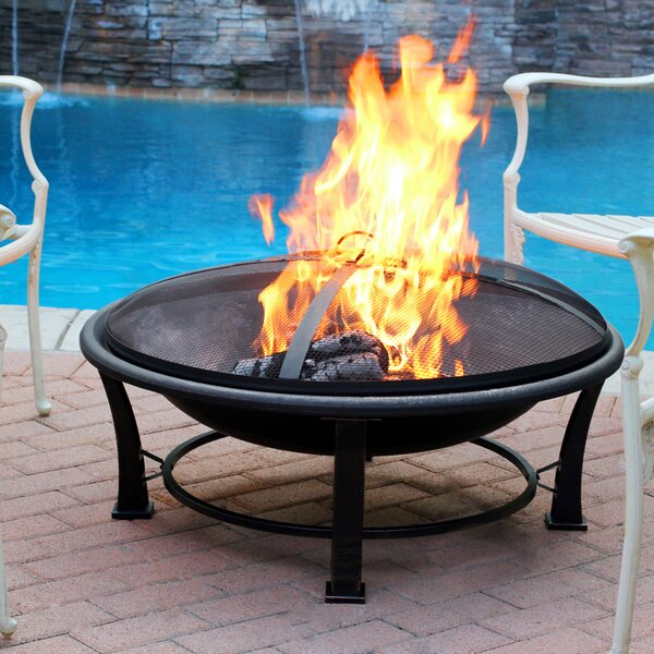 Golden Steel Wood Burning Fire Pit by Jeco Inc.