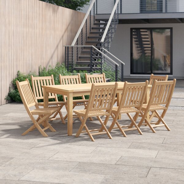 Anthony 9 Piece Teak Dining Set by Foundstone