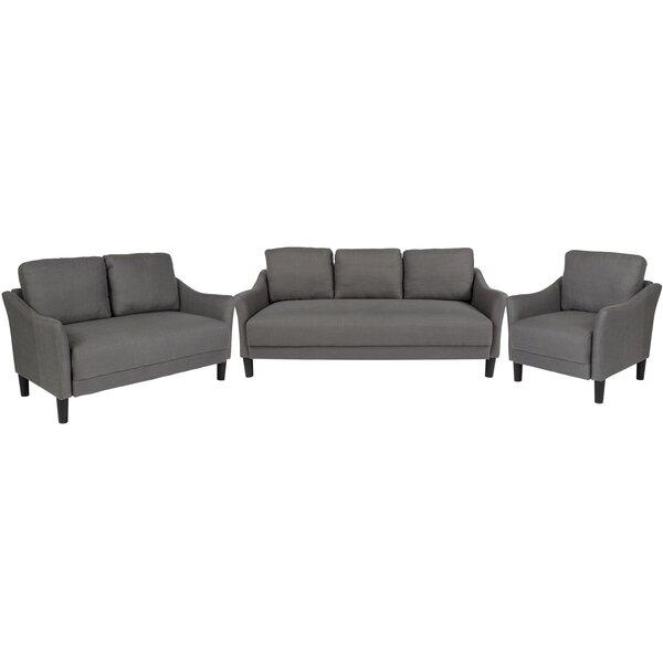 Mitesh Upholstered 3 Piece Living Room Set by Winston Porter