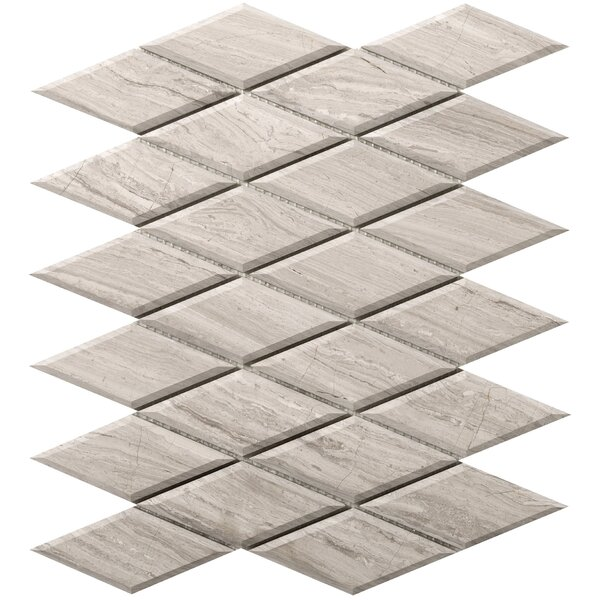 Metro Diamond 2 x 4 Marble Mosaic Tile in Cream by Emser Tile