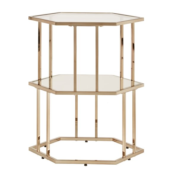 Johnie End Table by Everly Quinn
