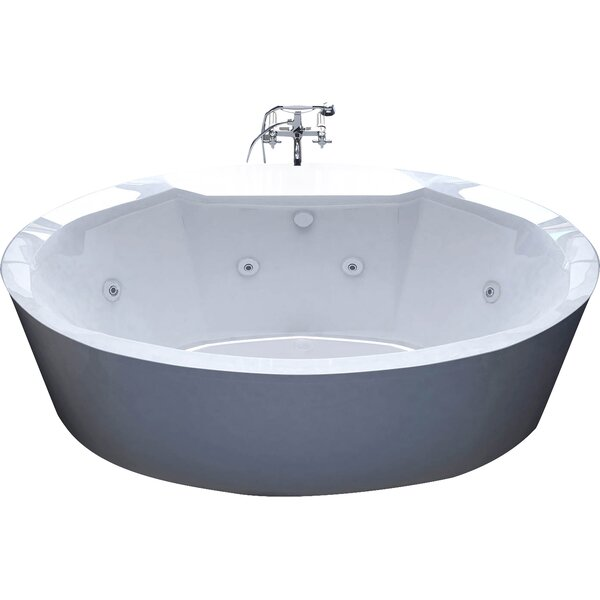 Salina 67.18 x 33.43 Freestanding Whirlpool Bathtub by Spa Escapes
