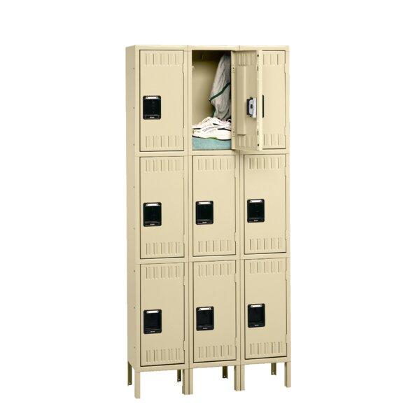 3 Tier 2 Wide Employee Locker by Tennsco Corp.