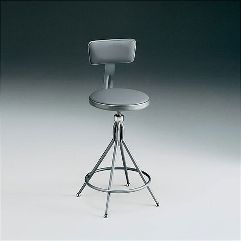 Height Adjustable Swivel Stool with Backrest by KI Furniture