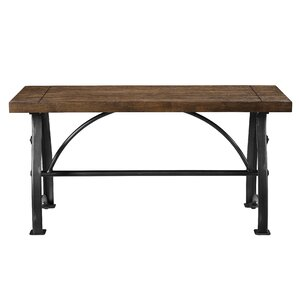 Dionne Wood and Metal Bench by Williston Forge