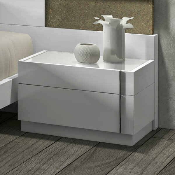 Brackenridge 2 Drawer Nightstand by Wade Logan Wade Logan