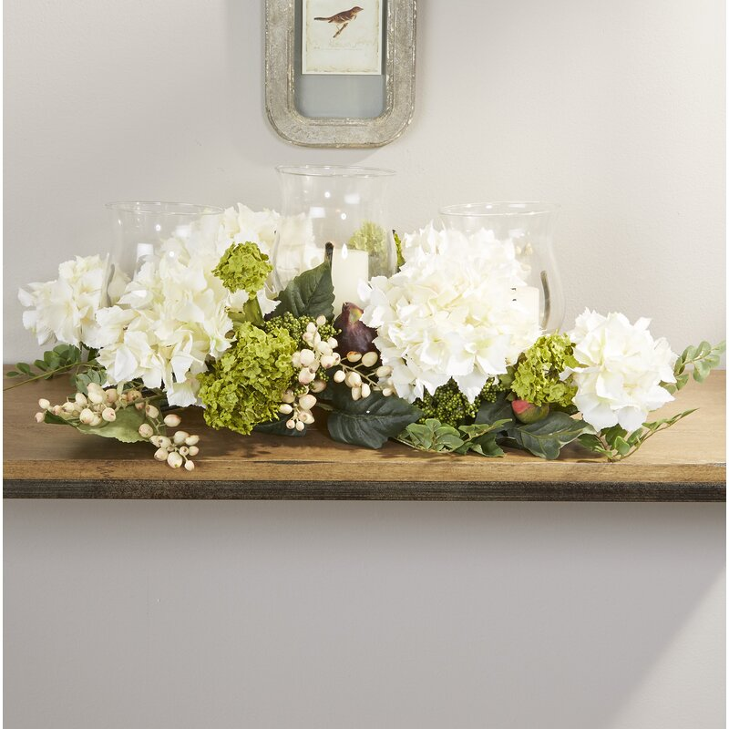 Darby Home Co Hydrangea Centerpiece In Candelabrum