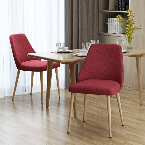 Dodrill Mid Century Upholstered Dining Chair (Set of 2) by Brayden Studio