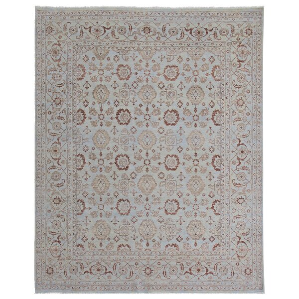 Hand Woven Silk Light Blue Area Rug by Exquisite Rugs