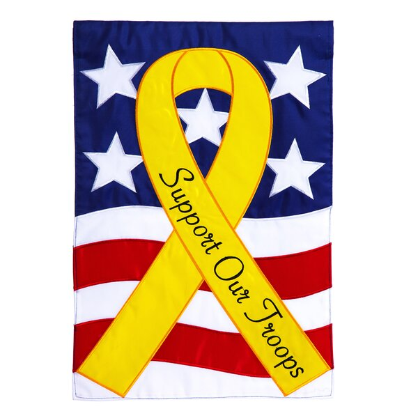 Support Our Troops Applique Garden Flag by Evergreen Enterprises, Inc