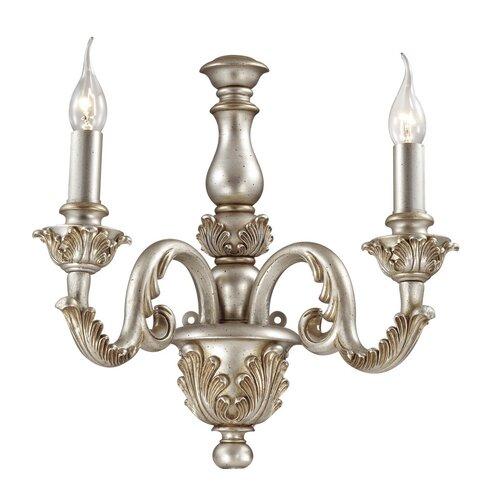 Gebhart 2 Light Wall Lamp Fleur De Lis Living Finish: Silver