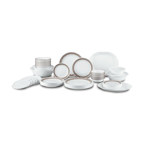 Sand Sketch Living Ware 74 Piece Dinnerware Set, Service for 12 by Corelle