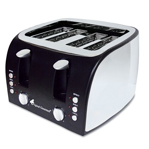 Coffee Pro 4-Slice Multi-Function Toaster with Adjustable Slot Width by Original Gourmet Food Co.