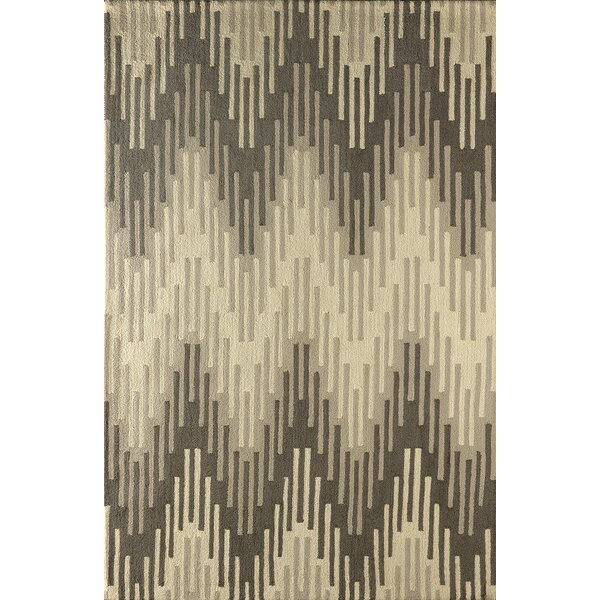 Flanary Hand Tufted Soot Area Rug by Bloomsbury Market