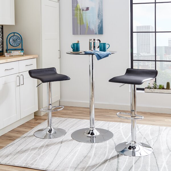 Zipcode Design Adjustable Height Swivel Bar Stool