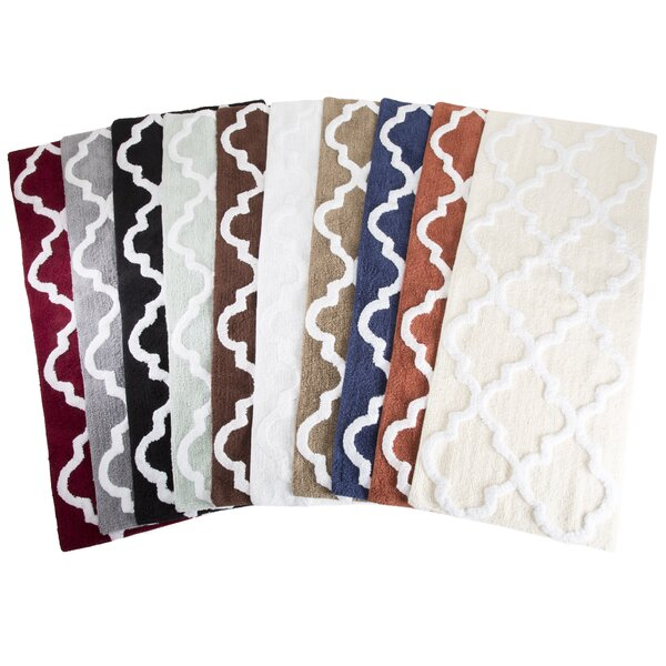 Godmanchester Trellis Cotton Bath Mat by The Twillery Co.