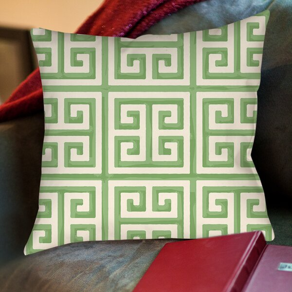 Greek Key II Printed Throw Pillow by Manual Woodworkers & Weavers