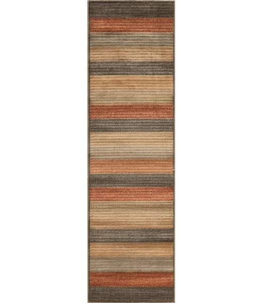 Sherill Yellow/Red/Gray Area Rug by Winston Porter