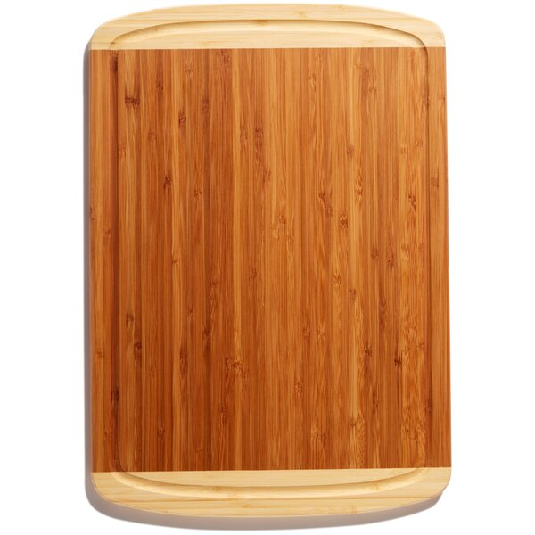 Organic Bamboo Cutting Board with Juice Groove by Greener Chef