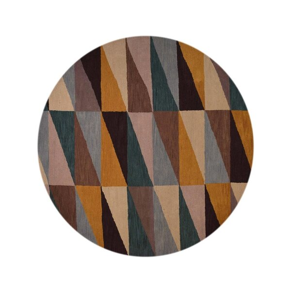 Chow Hand-Tufted Wool Orange/Brown Area Rug by Cor