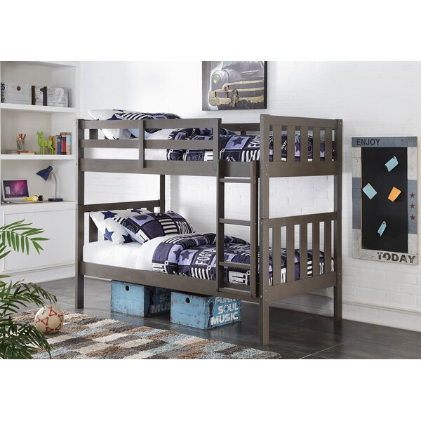 Chrisley Wide Mission Twin over Twin Bunk Bed by Harriet Bee