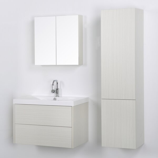 32 Wall-Mounted Single Bathroom Vanity Set with Mirror