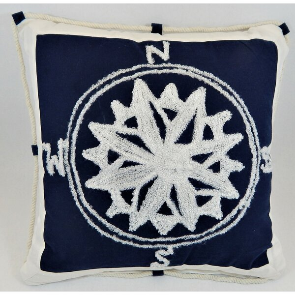 Montana Coastal Compass Throw Pillow by Breakwater Bay